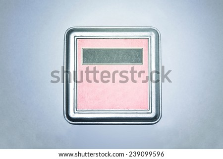 Silver box on isolated background with free copyspace. - stock photo