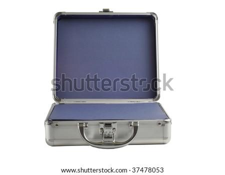 Open Briefcase Icon Silver Briefcase Open