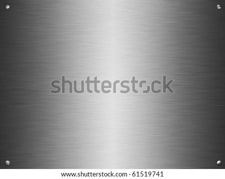 Silver brushed pattern - stock photo