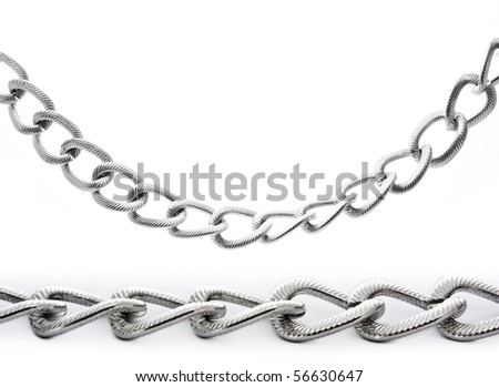 silver chain isolated on white