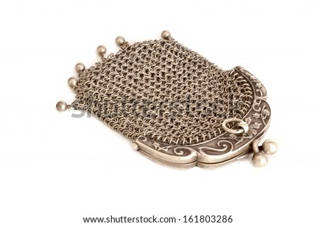 Silver chain purse from Art Nouveau period