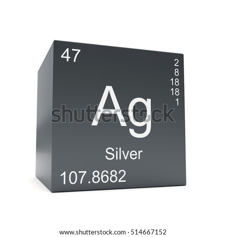 Silver chemical element periodic table symbol stock illustration silver chemical element symbol from the periodic table displayed on black cube 3d render urtaz Image collections