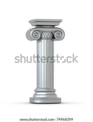 Silver Classic Column - stock photo