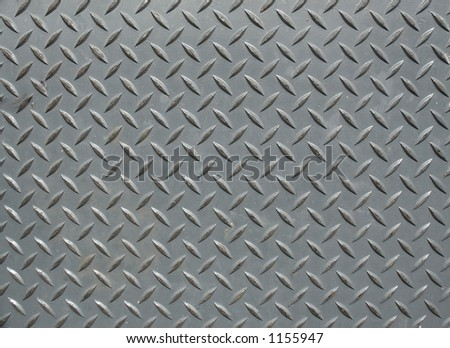 silver colored diamond plate background - stock photo
