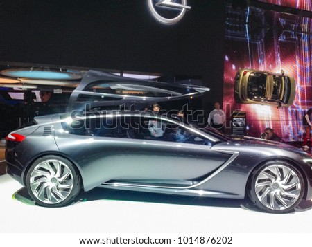 Silver Coupe From Opel. Moscow, Russia   30 August, 2014. New Ideas