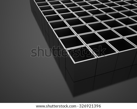 Silver 3D Cubes background business concept rendered