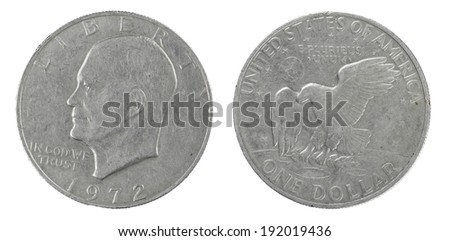 Silver dollar - stock photo