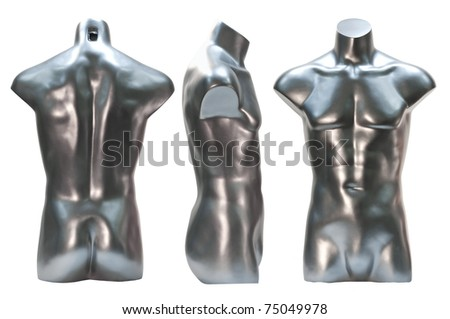 silver female mannequin - stock photo