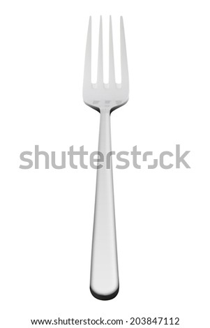 Silver fork isolated  - stock photo