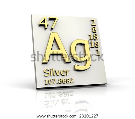 Silver form Periodic Table of Elements - stock photo