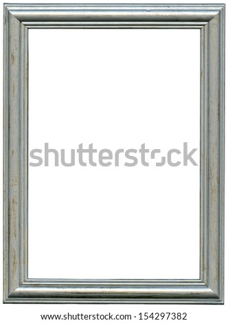 silver frame. Isolated over white background with clipping path - stock photo