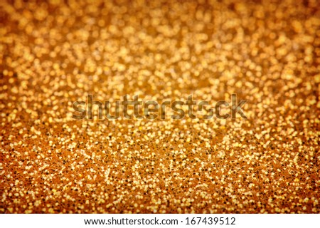Silver glitter background close up - stock photo