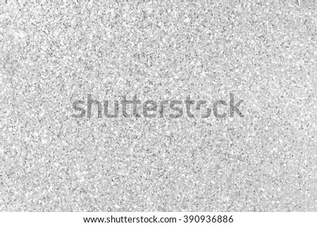 Silver glitter texture background - stock photo