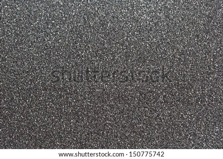 SIlver Grey glitter for texture or background - stock photo