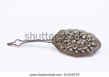 Silver Hairpin - stock photo