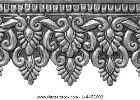 Silver handicrafts of Lanna, Thai style, Chiang Mai, Thailand. - stock photo
