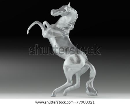 Silver horse - stock photo