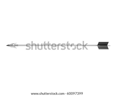 silver hunting arrow - stock photo