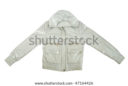 Silver jacket, isolated over white background