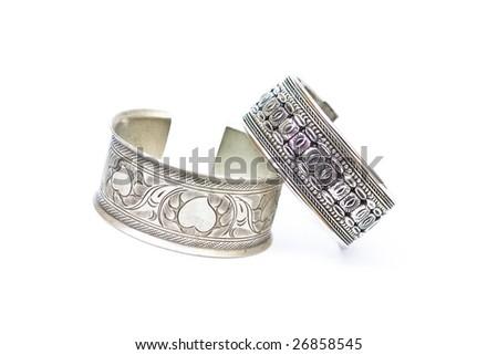 Silver Jewelry Bracelet - stock photo