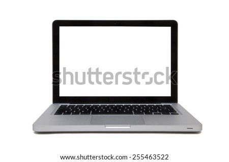 SILVER LAPTOP ISOLATED