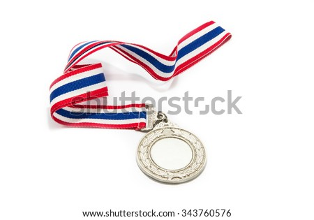 Silver Medal Isolated