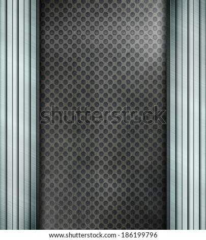 Silver metal construction. Industrial background  - stock photo