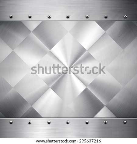 silver metal pattern background - stock photo
