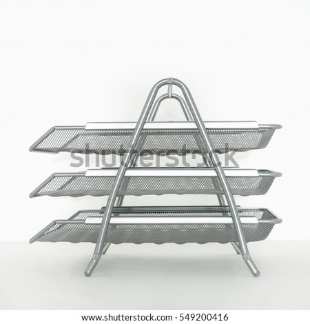 SILVER METAL WIRE MESH OFFICE PAPER TRAY