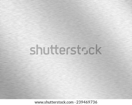 Silver metallic background - stock photo