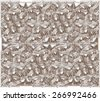 Silver metallic luxury vintage ornament wallpaper - stock vector