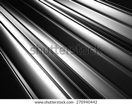 Silver Metallic Textured Abstract Background. 3d Render Illustration - stock photo