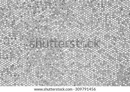 Silver mosaic background - stock photo