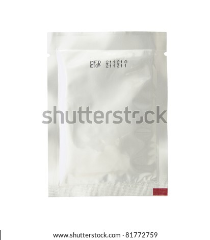 silver pack isolated on white background - stock photo