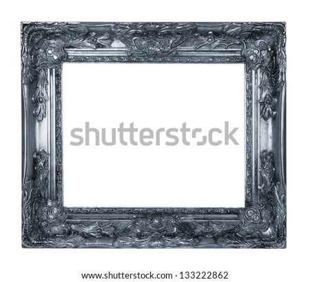 Silver picture frame - stock photo