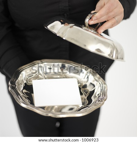silver plate - stock photo