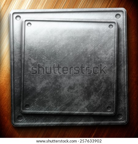 Silver plate on gold. Industrial construction - stock photo