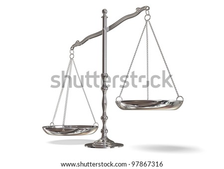 silver scales - stock photo