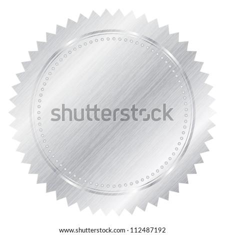 Silver seal - stock photo