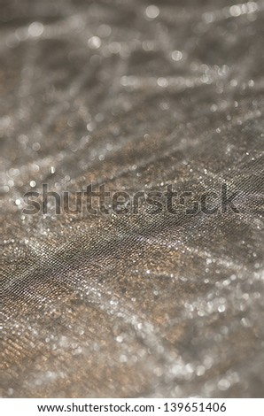 Silver Shimmering Background Texture (Fabrics) - stock photo