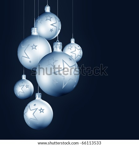 Silver shiny christmas decoration.