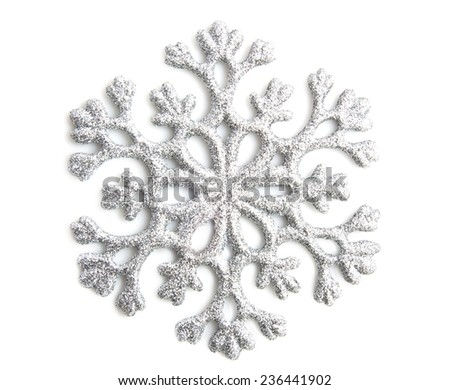 Silver shiny star isolated over white