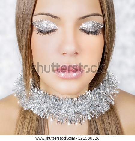 Silver snow queen - stock photo