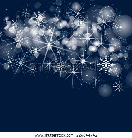 Silver sparkle glitter background. Sparkling flow background. - stock photo