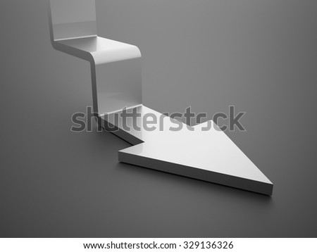 Silver stair arrow business concept rendered
