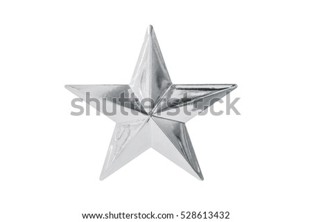 Silver star isolated on white background