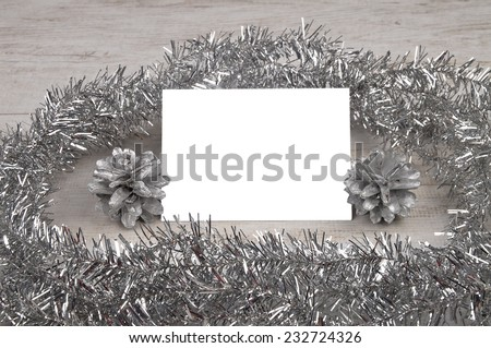Silver table card - stock photo