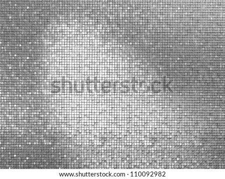 Silver tile background 3D simulation picture - stock photo