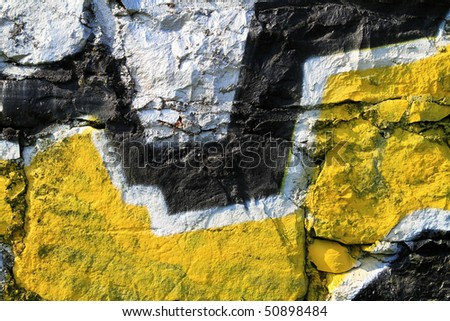 Silver - yellow wall background - stock photo