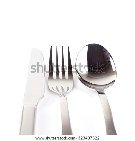 silverware isolated on a white background